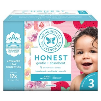 Honest Company Disposable Diapers Club Pack Rose Blossom & Strawberries - Size 3 (68ct)