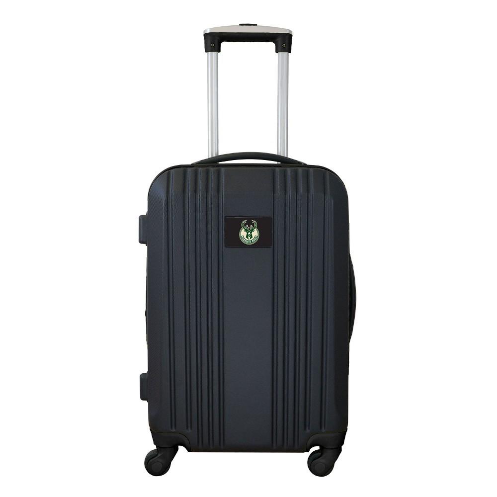 Nba Milwaukee Bucks 21 Hardcase Two Tone Spinner Carry On Suitcase