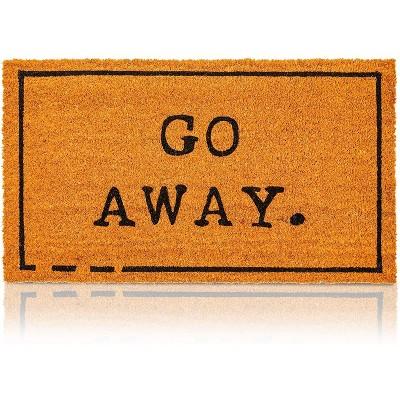 """Juvale Go Away Coir Door Mat Welcome Doormat Indoor Outdoor Nonslip Front Rugs 17""""x30"""""""