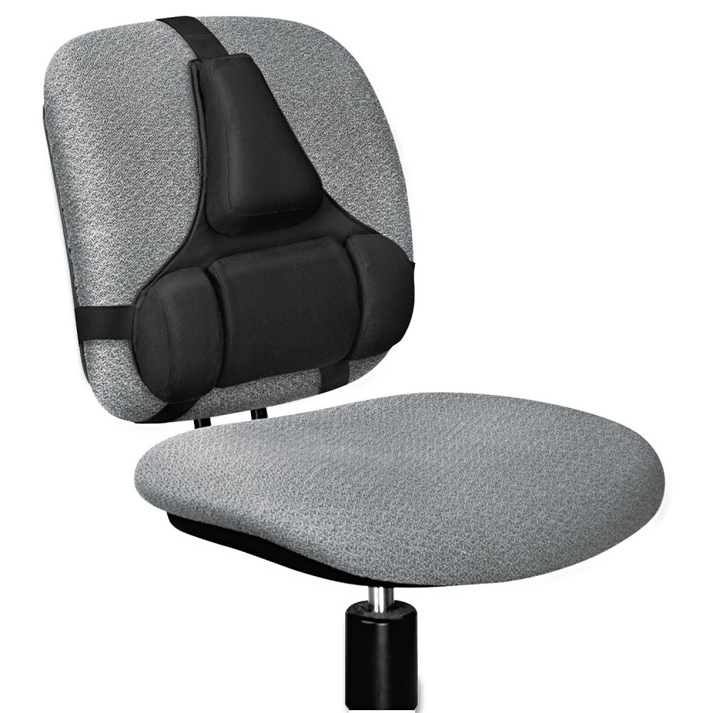 Image of Fellowes Professional Series Back Support, Memory Foam Cushion, Black