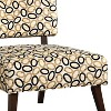 Accent Chair In Printed Fabric Cream/Black - Benzara - image 3 of 4