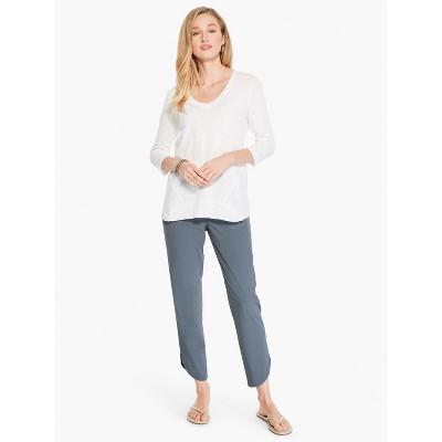 NIC+ZOE Women's Shirt Tail Tech Stretch Pant Slate