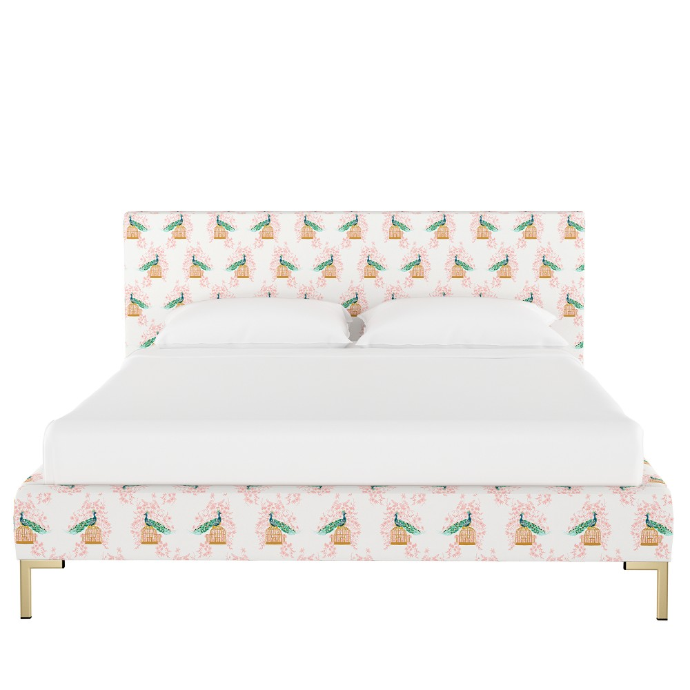 Platform California King Bed Peacock Blush - Opalhouse