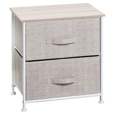 mDesign Vertical Dresser Storage Tower with 2 Drawers