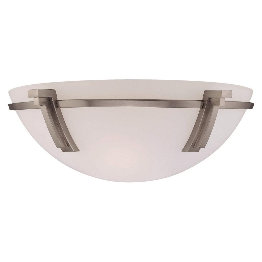 Lite Source Incandescent BU Wall Light - Silver