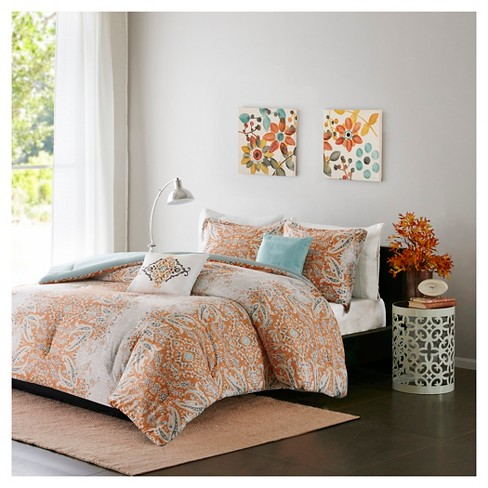 Alexis Faded Paisley Multiple Piece Comforter Set - image 1 of 4