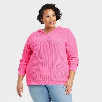 Women's Plus Size Crewneck Pullover Sweater - Ava & Viv™