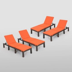 Jamaica 4pk Wicker Chaise Lounges - Christopher Knight Home