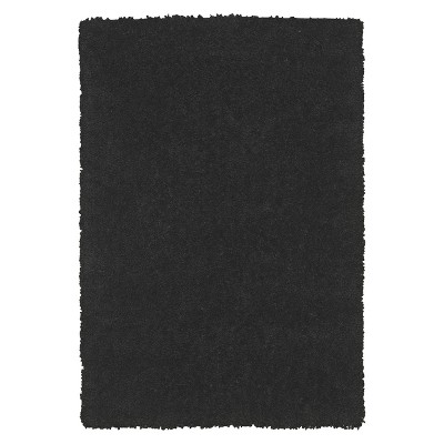 Dream Supersoft Shag Area Rug - Black (5'x7'6 )