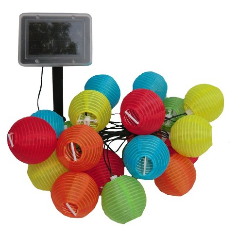 17 9 Smart Living Chinese Lanterns 20ct Solar String Led Light Target