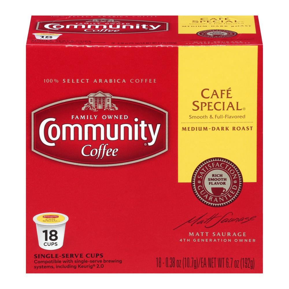 Community Coffee Café Special Medium Roast Coffee - Keurig K-Cup Brewer Compatible Pods - 18ct