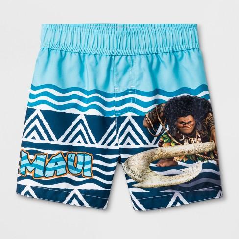 Toddler Boys' Moana Maui Swim Trunks - Blue - image 1 of 1