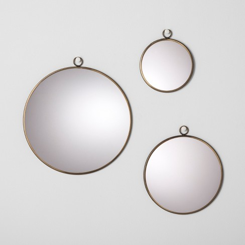 Round Mirror Set Of 3 Hearth Hand With Magnolia Target