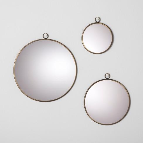 Round Mirror Set Of 3 Hearth Hand With Magnolia