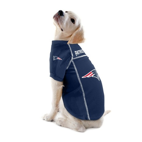 new concept daf1c 763cd New England Patriots Little Earth Pet Football Jersey - Navy XS