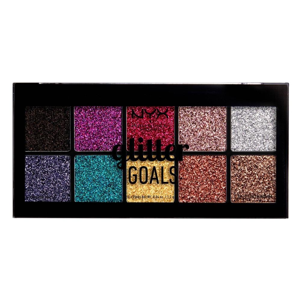 NYX Professional Makeup Glitter Goals Cream Pro Eye Shadow Palette - 3.61oz