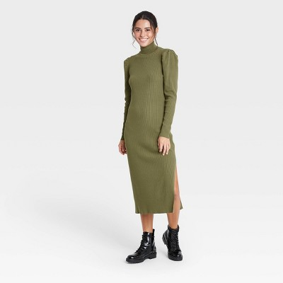 Women's Puff Long Sleeve Sweater Dress - Who What Wear™