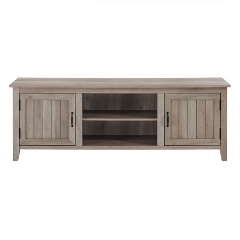 """Modern Farmhouse Wood TV Stand for TVs up to 80"""" - Saracina Home - image 1 of 4"""