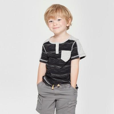 Toddler Boys' Genuine Kids® from OshKosh Pocket Short Sleeve T-Shirt - Black 18M
