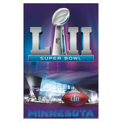 """Trends International NFL Super Bowl LII - Celebration Framed Wall Poster Prints White Framed Version 22.375"""" x 34"""""""