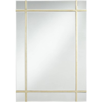 """Possini Euro Design Possini Euro Shedd Light Gold 28"""" x 40"""" Wall Mirror"""