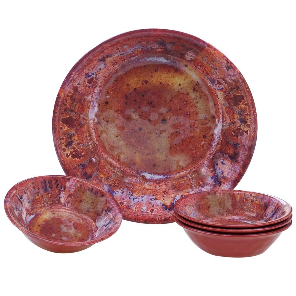 Image of Radiance Red 5pc Melamine Salad Serving Set - Certified International