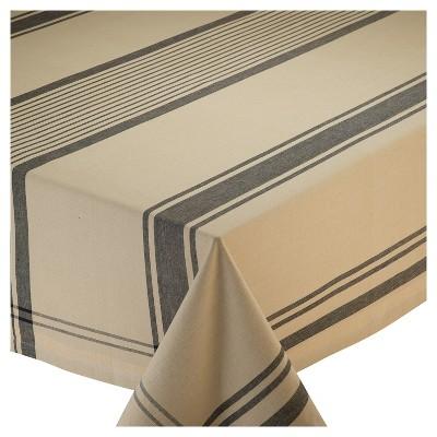 Beige Butcher Block Plaid Tablecloth (52 x52 )- Design Imports