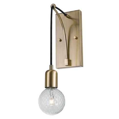 Globe Electric 51264 Krystallos Single Light 17 Tall Wall Sconce