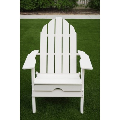 """37.8"""" Foldable Weather Resistant  Outdoor Adirondack Chair - White - XBrand"""