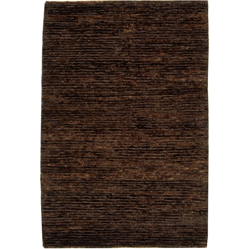 3'X5' Solid Knotted Accent Rug Brown - Safavieh