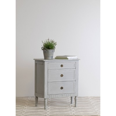 Cassidy 3 Drawer Chest Nightstand Gray - East At Main