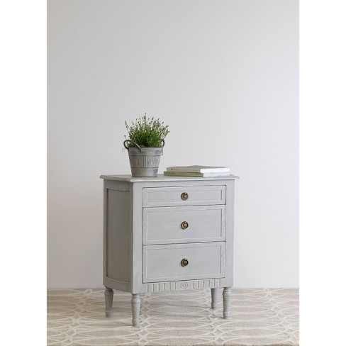Cassidy 3 Drawer Chest Nightstand Gray - East At Main - image 1 of 1