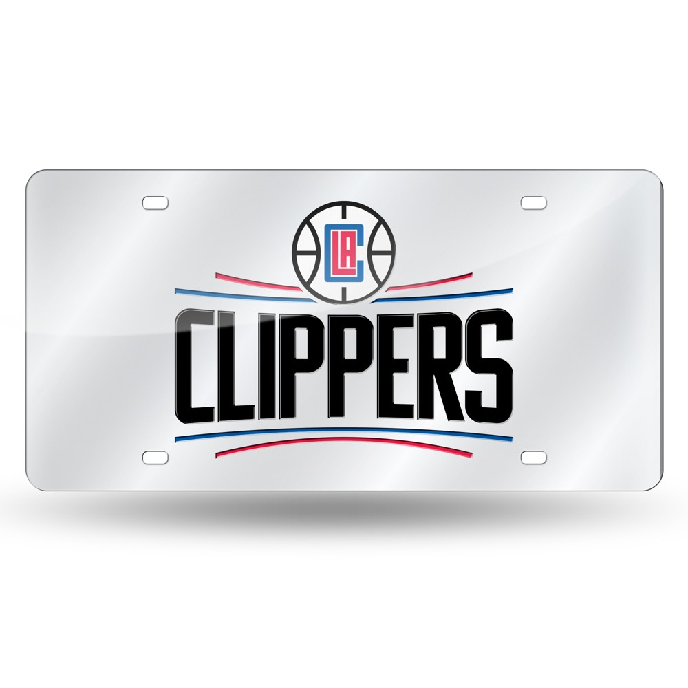 Los Angeles Clippers Rico Industries Silver Laser Cut Auto Tag