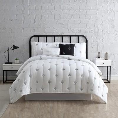 Modern Threads 5-Piece Embroidered Garment-Washed Comforter Set.
