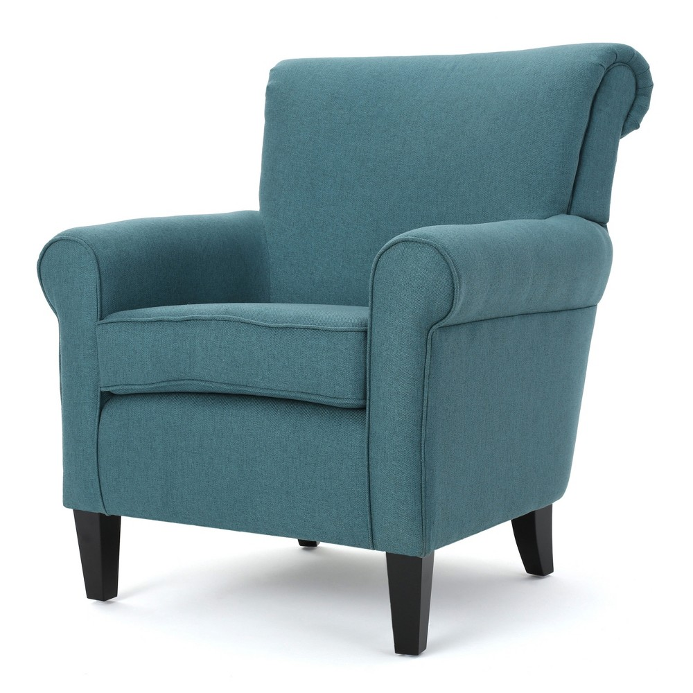 Roseville Upholstered Club Chair - Dark Teal - Christopher Knight Home