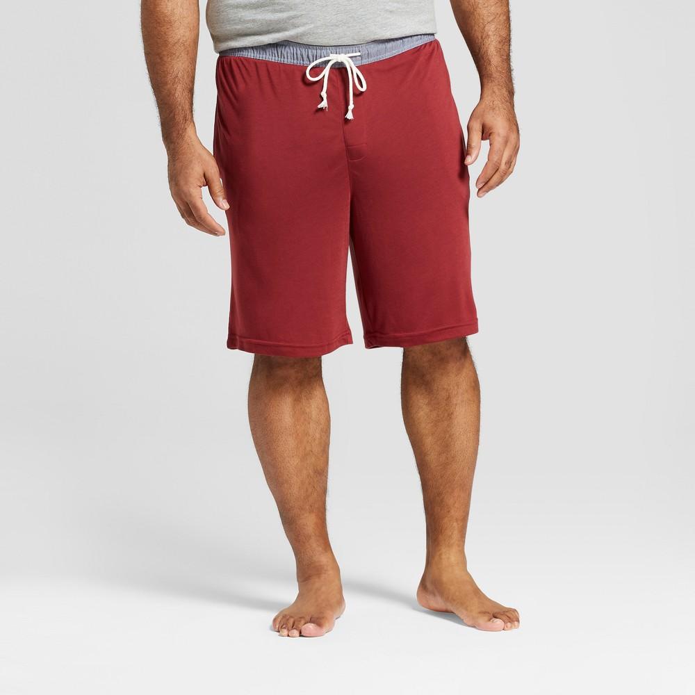 Men's Big & Tall Knit Pajama Shorts - Goodfellow & Co Dark Red 4XB