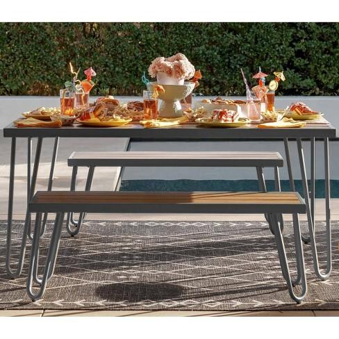 Paulette 3pc Table and Bench Set - Novogratz - image 1 of 4