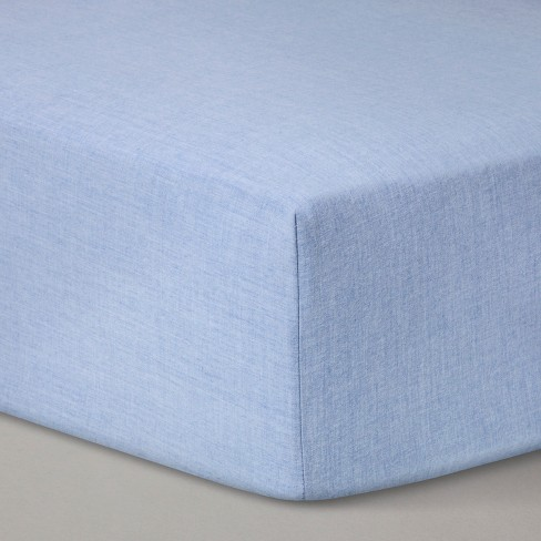 Fitted Crib Sheet Solid - Cloud Island™ Royal Blue - image 1 of 2
