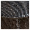 Brayden 3pc Wicker Patio Bistro Set - Brown - Christopher Knight Home - image 4 of 4