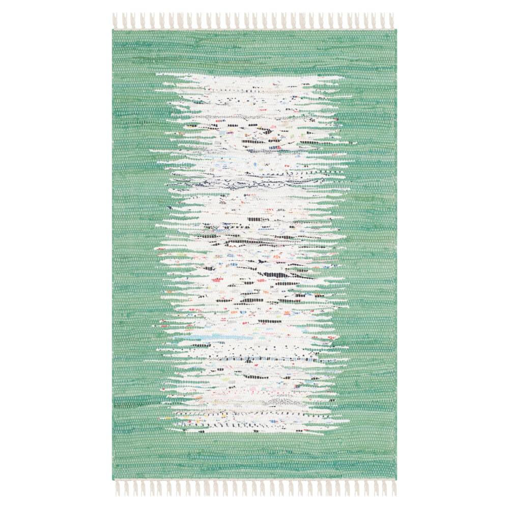 Bettina Flatweave Accent Rug Ivory Sea Green 2 39 6 34 X 4 39 Safavieh