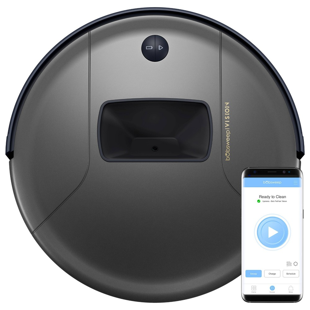 Image of bObsweep PetHair Vision Wi-Fi Connected Robotic Vacuum Cleaner - Space Gray