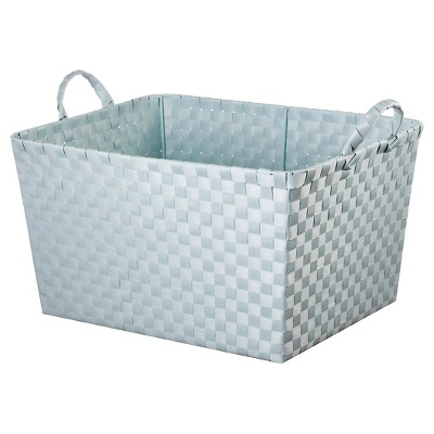 Woven Rectangle Toy Storage Bin Aqua - Pillowfort™