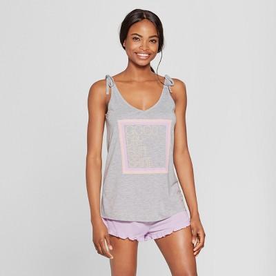 Women's Tank Top and Ruffle Shorts Pajama Set - Xhilaration™ Purple L