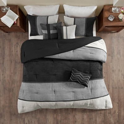Overland Faux Suede Comforter Set