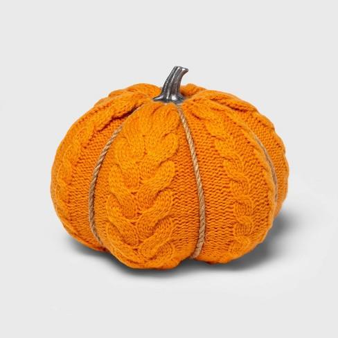 Medium Cable Knit Soft Fabric Harvest Pumpkin - Spritz™ - image 1 of 1