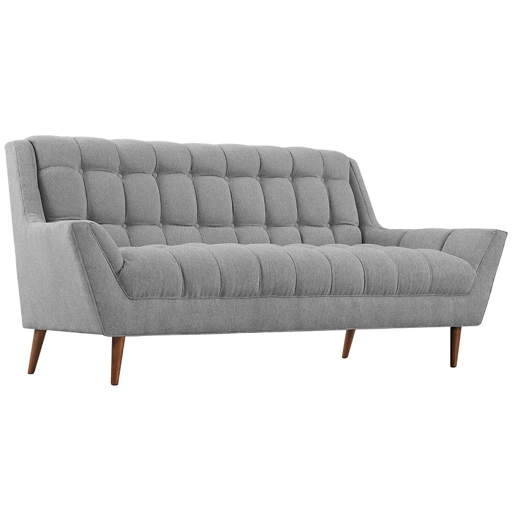 Response Upholstered Fabric Loveseat Expectation Gray - Modway