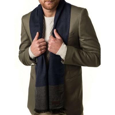 Mio Marino | Men's Cashmere Feel, 100% Cotton Fashion Winter Scarf