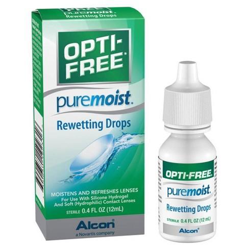 Opti-Free Pure Moist Rewetting Drops - 0.4 fl oz - image 1 of 4
