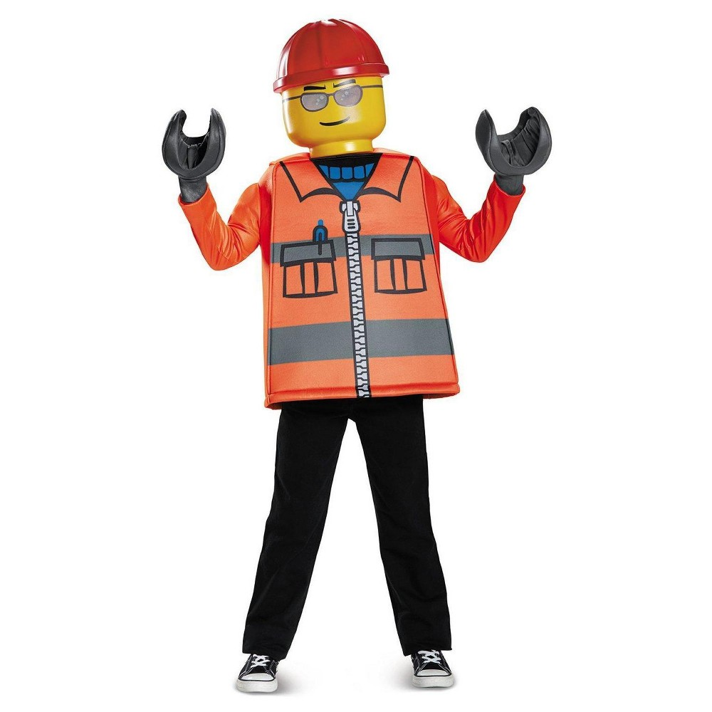 Image of Halloween Boys' Lego Iconic - Construction Worker Classic Child Costume L(10-12), Boy's, Size: Large, MultiColored
