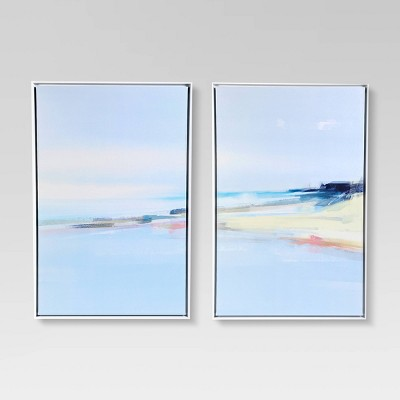 """(Set of 2) 24"""" x 36"""" Coast Canvas in White Frame - Project 62™"""